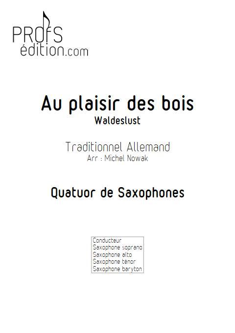 Au plaisir des bois - Quatuor de Saxophones - TRADITIONNEL ALLEMAND - page de garde