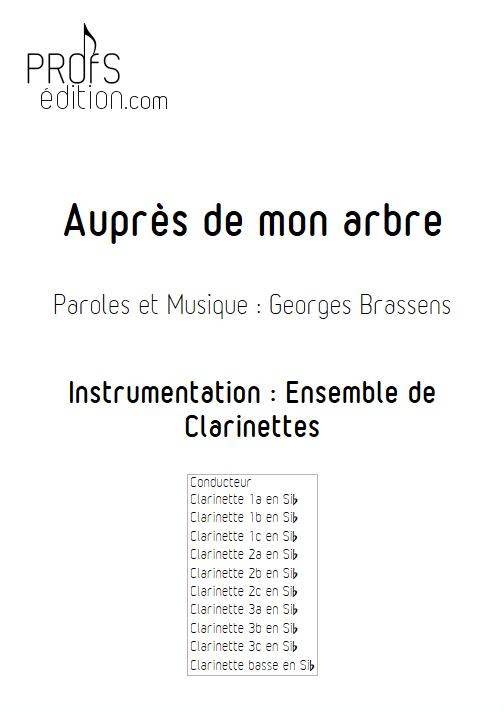 Auprès de mon arbre - Ensemble de Clarinettes - BRASSENS G. - page de garde
