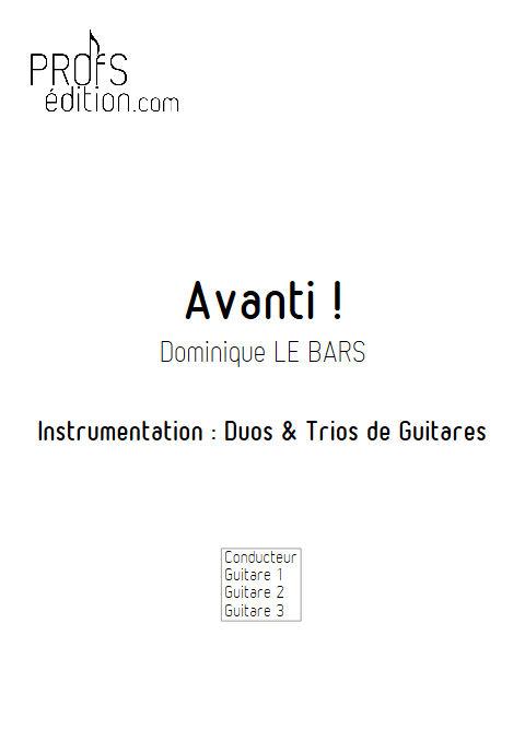 Avanti ! - Duos & Trios Guitare - LE BARS D. - page de garde