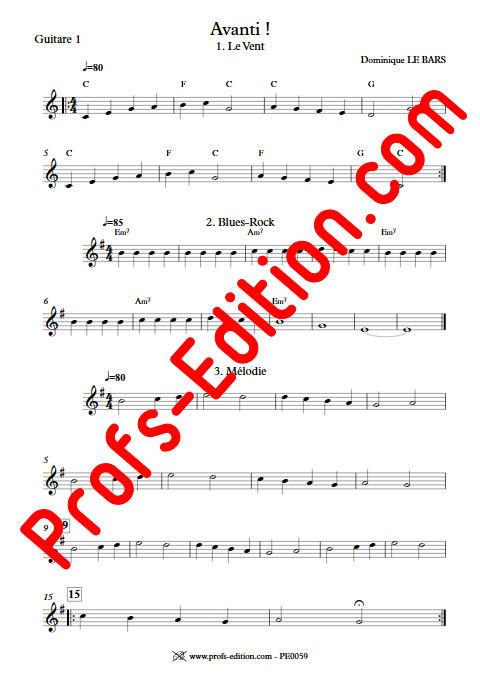 Avanti ! - Duos & Trios Guitare - LE BARS D. - app.scorescoreTitle