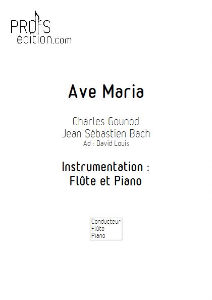 Ave Maria - Flûte et Piano - BACH & GOUNOD - page de garde