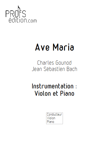 Ave Maria - Violon et Piano - BACH & GOUNOD - page de garde