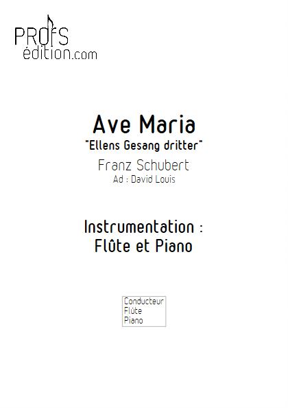 Ave Maria - Flûte et Piano - SCHUBERT F. - page de garde