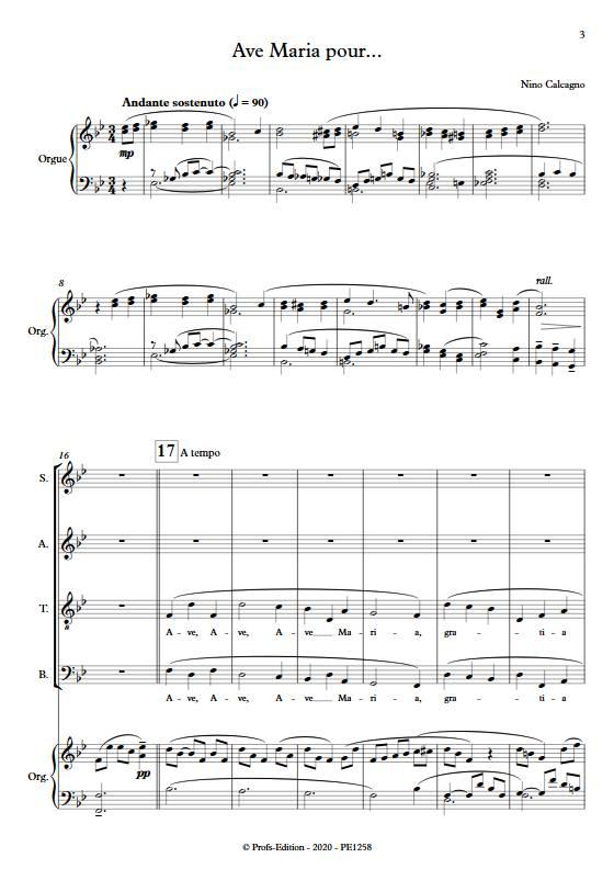 Ave Maria pour... - Chœur mixte et voix - CACAGNO N. - app.scorescoreTitle
