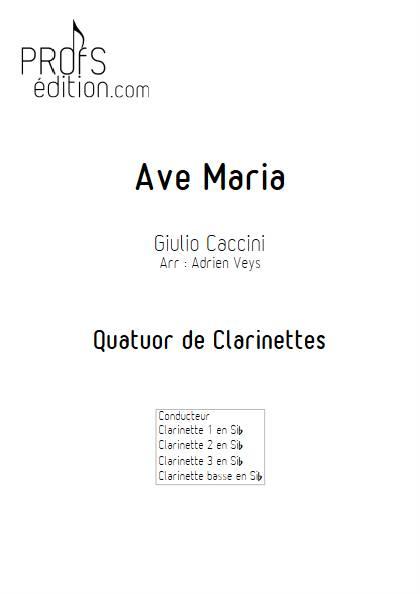 Ave Maria - Quatuor de Clarinettes - CACCINI G. - page de garde