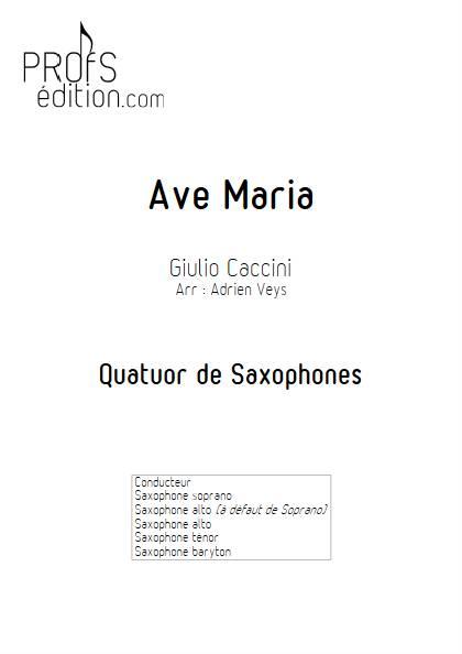 Ave Maria - Quatuor de Saxophones - CACCINI G. - page de garde