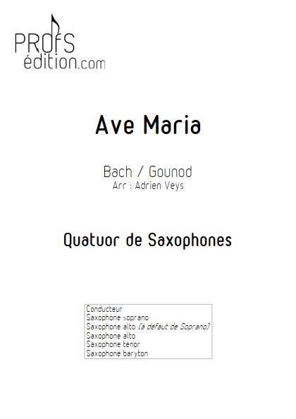 Ave Maria - Quatuor de Saxophones - BACH J. S. GOUDOD C. - page de garde