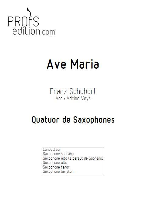 Ave Maria - Quatuor de Saxophones - SCHUBERT F. - page de garde