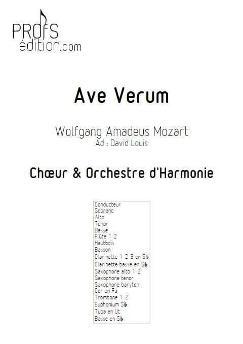 Ave Verum - Chœur et Harmonie - MOZART W. A. - page de garde