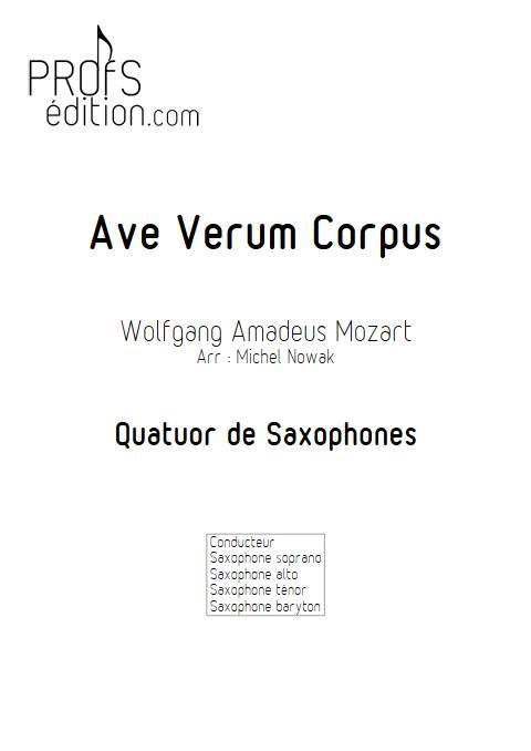 Ave Verum Corpus - Quatuor de Saxophones - MOZART W. A. - page de garde
