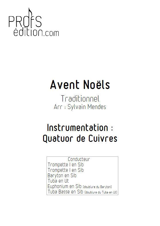 Avent Noël - Quatuor Cuivres - TRADITIONNEL - page de garde
