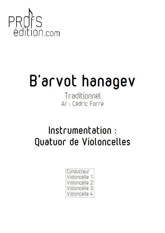 B'arvot hanagen - Quatuor Violoncelles - FORRÉ C. - page de garde