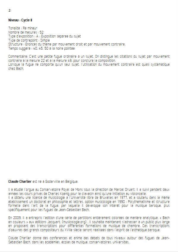Invention BWV 775 - Duo - BACH J. S. - Fiche Pédagogique