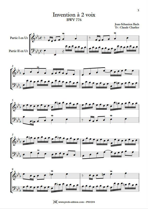 Invention BWV 776 - Duo - BACH J. S. - app.scorescoreTitle