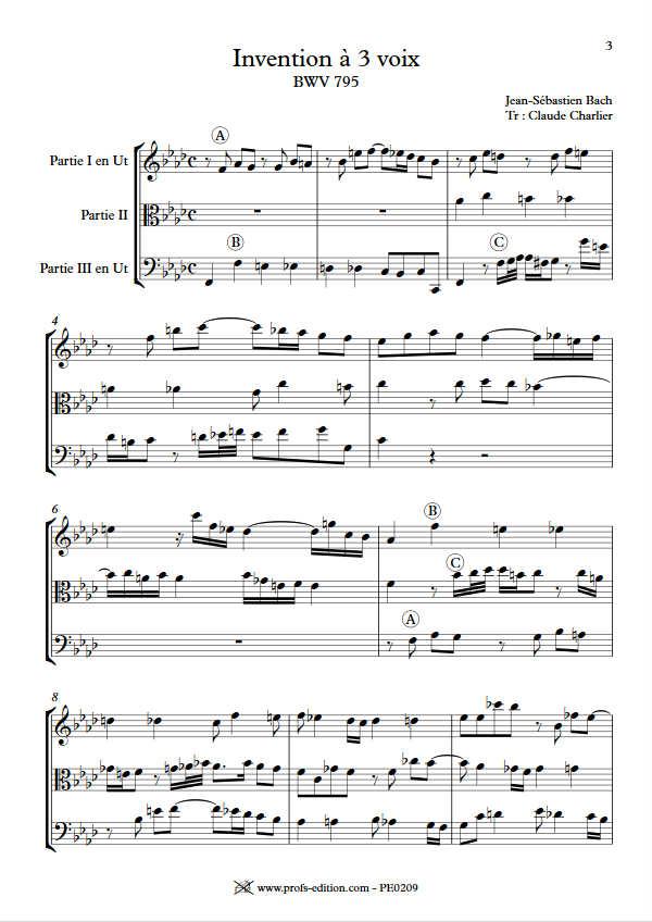 Invention BWV 795 - Trio - BACH J. S. - app.scorescoreTitle