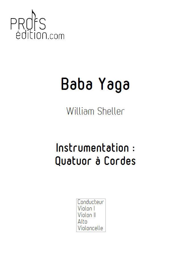 Baba Yaga - Quatuor à Cordes - SHELLER W. - page de garde