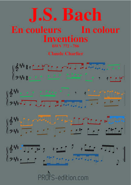 Bach in colour – BWV 772-786 Inventions - Analysis - CHARLIER C. - page de garde