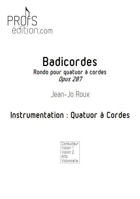 Badicordes - Quatuor à Cordes - ROUX J.J. - page de garde