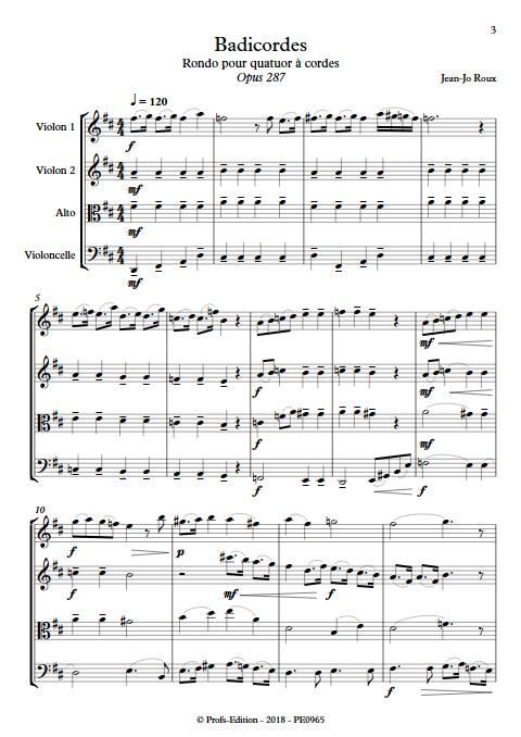 Badicordes - Quatuor à Cordes - ROUX J.J. - Partition