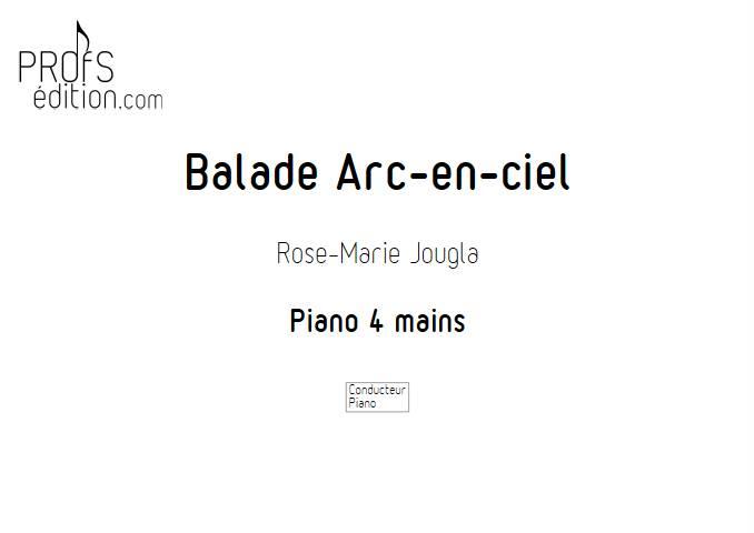Balade Arc-en-ciel - Piano 4 mains - JOUGLA R. M. - page de garde