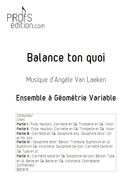 Balance ton quoi - Ensemble Variable - ANGELE - page de garde