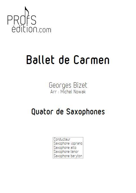 Ballet de Carmen - Quatuor de Saxophones - BIZET G. - page de garde