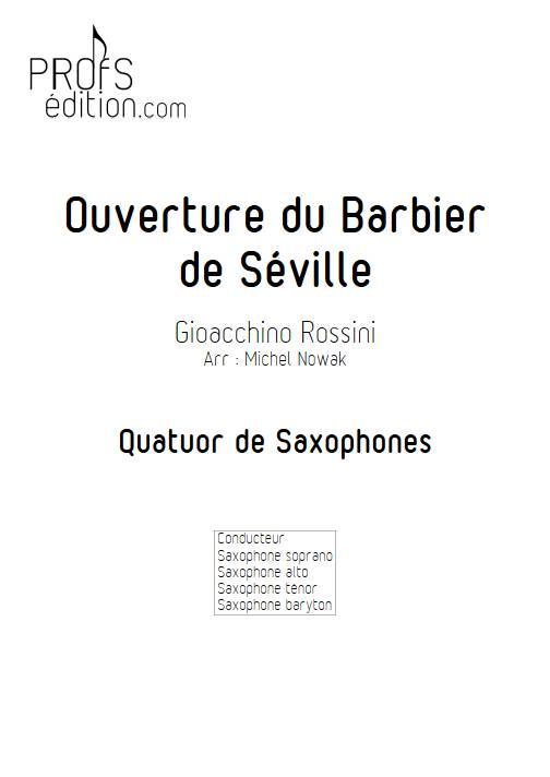 Barbier de Séville - Quatuor de Saxophones - ROSSINI G. - page de garde