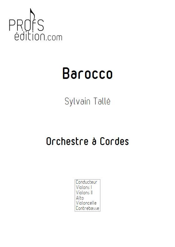 Barocco - Orchestre à cordes - TALLE S. - page de garde