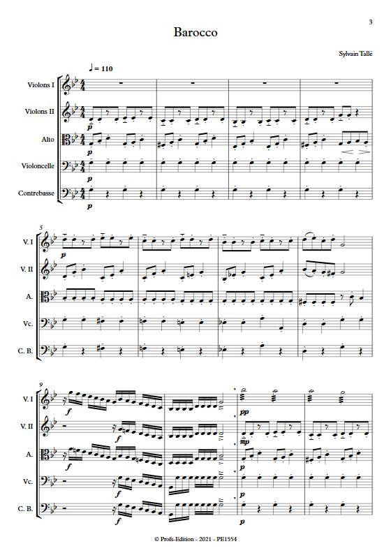 Barocco - Orchestre à cordes - TALLE S. - app.scorescoreTitle