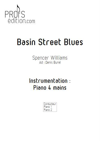 Basin Street Blues - Duo Piano - WILLIAMS S. BUREL D. - page de garde