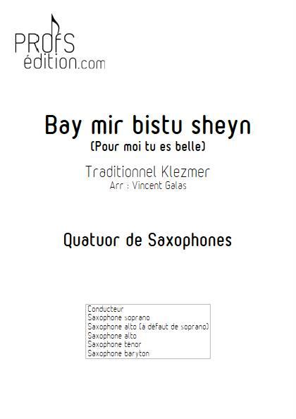 Bay mir bistu sheyn - Quatuor de Saxophones - TRADITIONNEL KLEZMER - page de garde