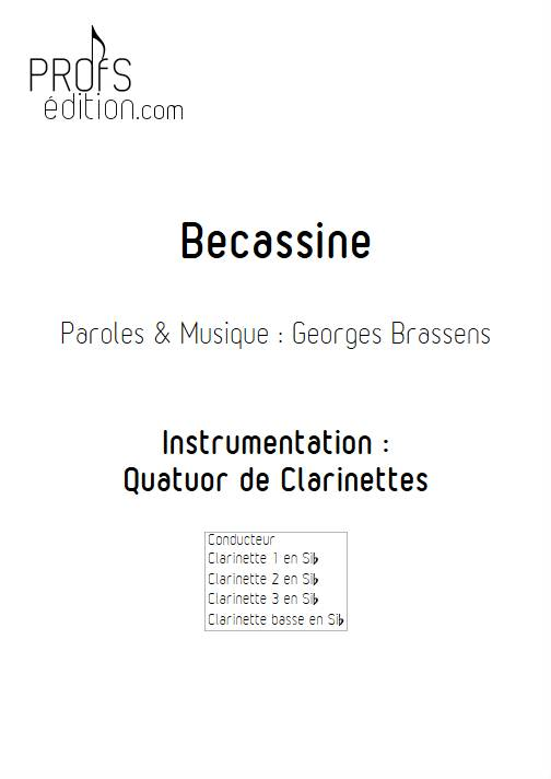 Becassine - Quatuor de Clarinettes - BRASSENS G. - page de garde