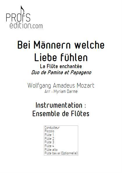 Bei Männern welche Liebe fühlen - Ensemble de Flûtes - MOZART W.A. - page de garde