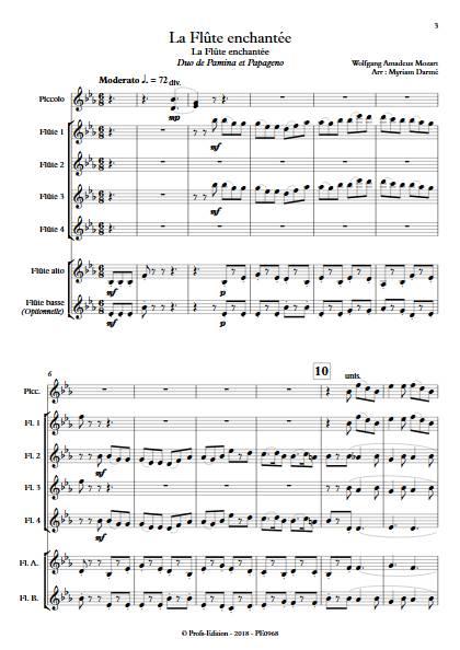 Bei Männern welche Liebe fühlen - Ensemble de Flûtes - MOZART W.A. - Partition
