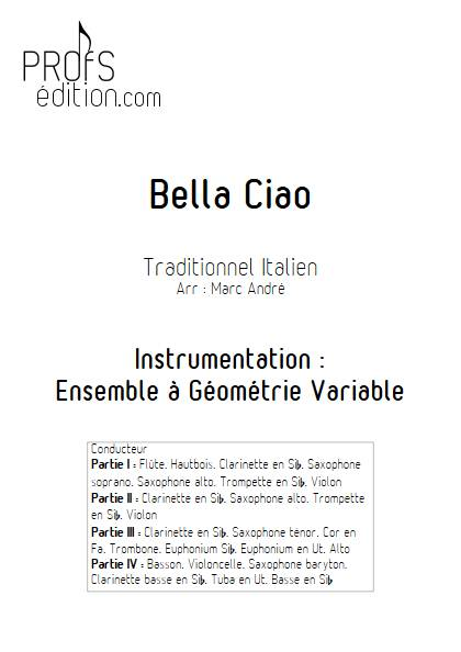 Bella Ciao - Ensemble Variable - TRADITIONNEL ITALIEN - page de garde