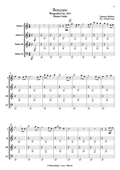 Berceuse (Wiegenlied) - Ensemble à Géométrie Variable - BRAHMS J. - Fiche Pédagogique