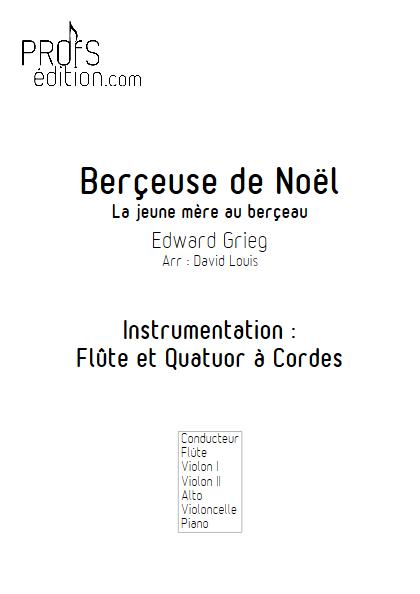 Berçeuse de Noël - Flûte et Quatuor à Cordes (ou Piano) - GRIEG E. - page de garde