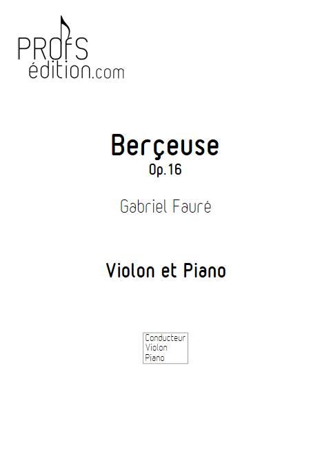 Berçeuse - Violon et Piano - FAURE G. - page de garde