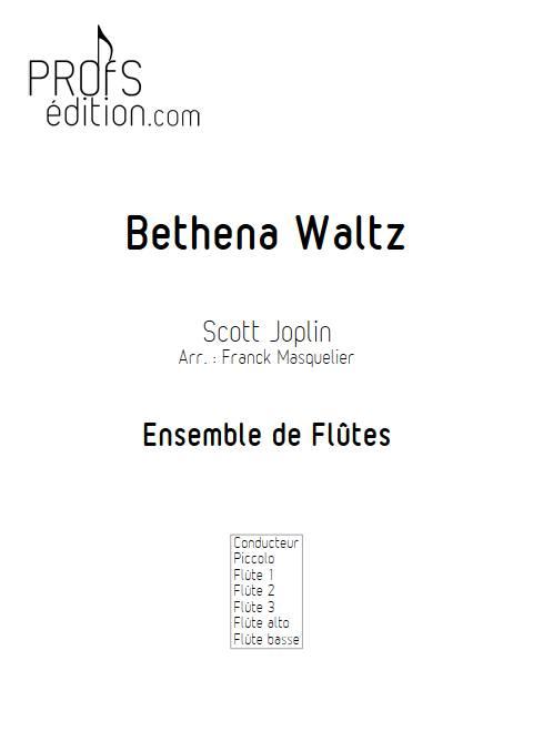 Bethena Waltz - Ensemble de Flûtes - JOPLIN S. - page de garde