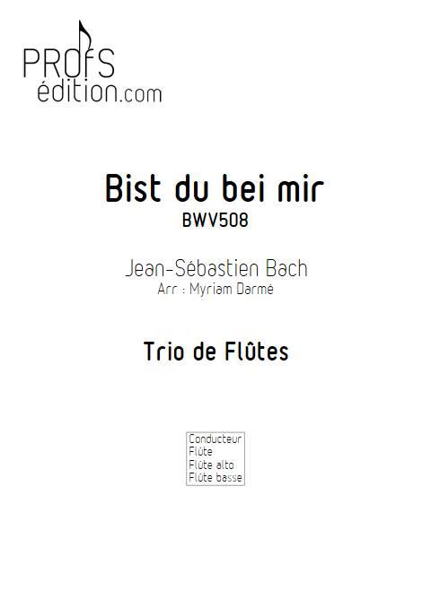 Bist du bei mir - Trio de flûtes - BACH J. S. - page de garde