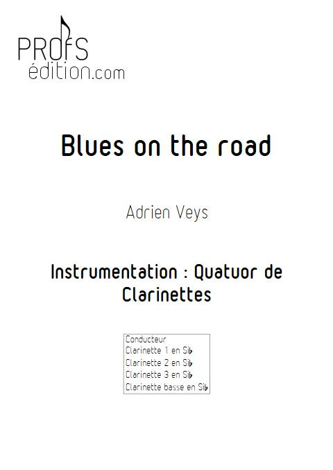 Blues on the road - Quatuor de Clarinettes - VEYS A. - page de garde