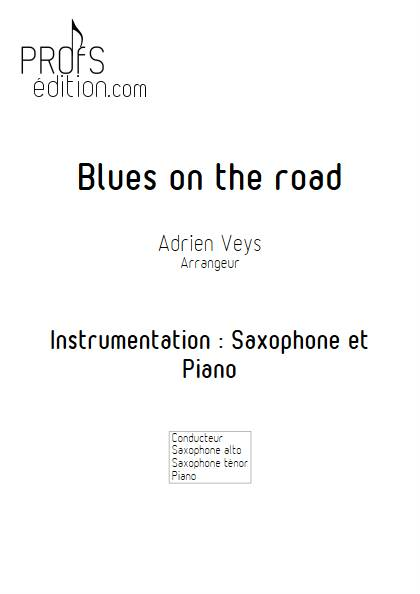 Blues on the road - Saxophone Piano - VEYS A. - page de garde