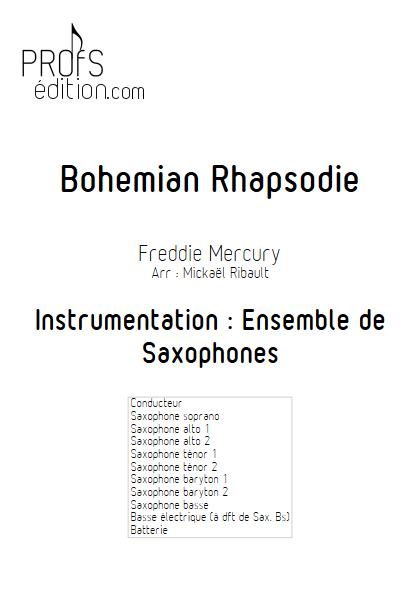Bohemian Rhapsody - Ensemble de Saxophones - MERCURY F. - page de garde