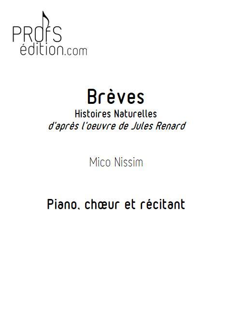 Brèves - Chœur et Piano - NISSIM M. - page de garde
