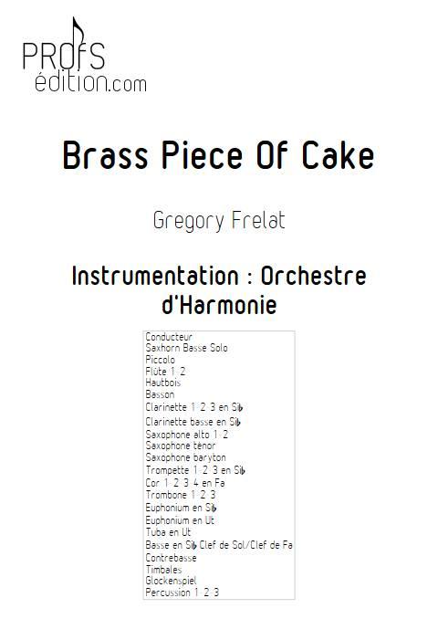 Brass Piece of Cake - Saxhorn Basse & Harmonie - FRELAT G. - page de garde