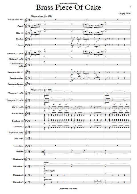 Brass Piece of Cake - Saxhorn Basse & Harmonie - FRELAT G. - Partition