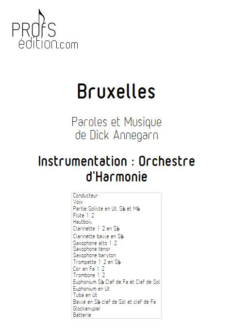 Bruxelles - Orchestre d'Harmonie - ANNEGARN D. - page de garde