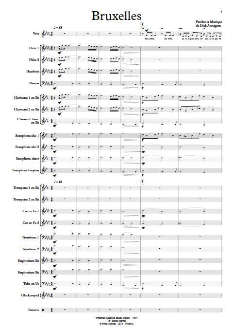 Bruxelles - Orchestre d'Harmonie - ANNEGARN D. - Partition