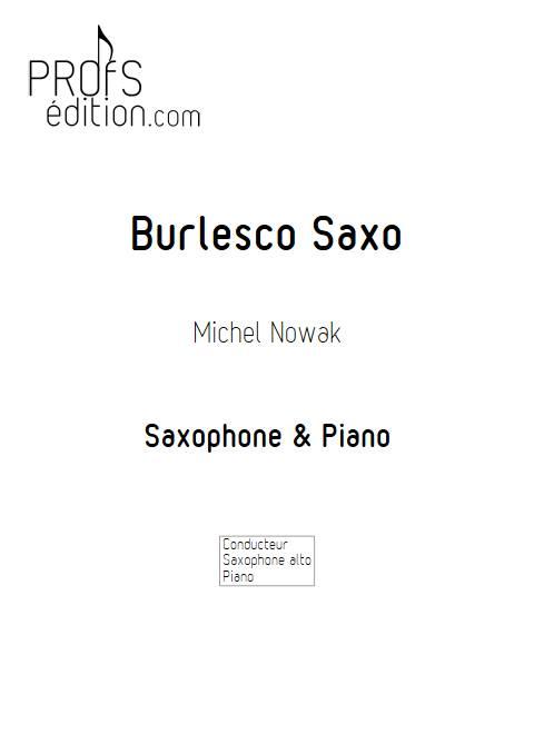 Burlesco Saxo - Saxophone & Piano - NOWAK M. - page de garde