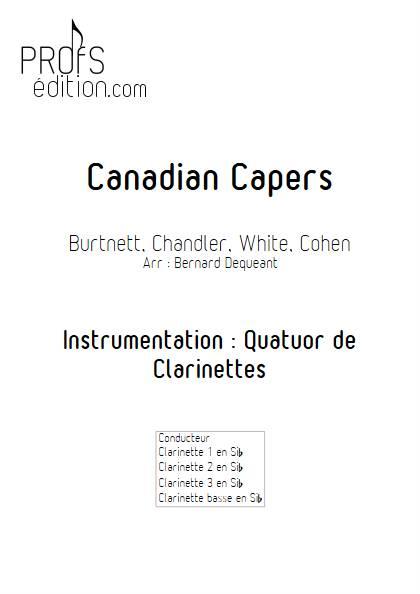 Canadian Capers - Quatuor de Clarinettes - BURNETT E. - page de garde